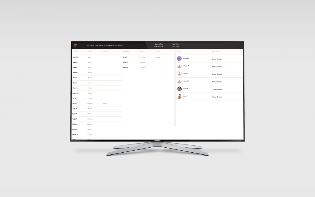 SLIKR 1.11 Queue Display TV and Bookings